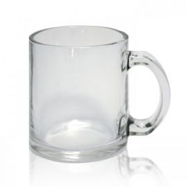Кружка стеклянная прозрачная