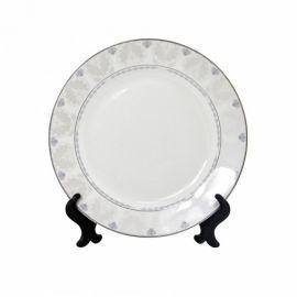 """Тарелка белая фарфоровая с орнаментом """"Пальмовая ветвь"""""""