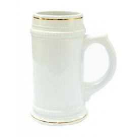 Кружка пивная с золотым ободком