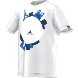 Детская футболка белая х/б Adidas Euro