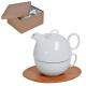 """Набор """"Мила"""": чайник и чайная пара в подарочной упаковке"""