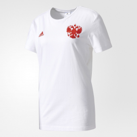 Футболка мужская белая Сборная России Adidas