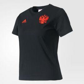 Футболка детская черная Сборная России Adidas
