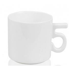"""Кружка белая кофейная с ручкой-цифрой """"5"""""""