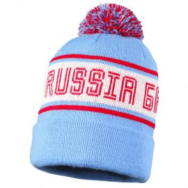 """Шапка """"Russia Баскет"""" голубая"""